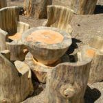 How to Turn Wood Logs Into Outdoor Furniture – Wood Log Stools and Tables