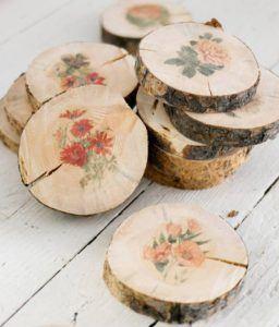 Plain Wood Birch Coasters