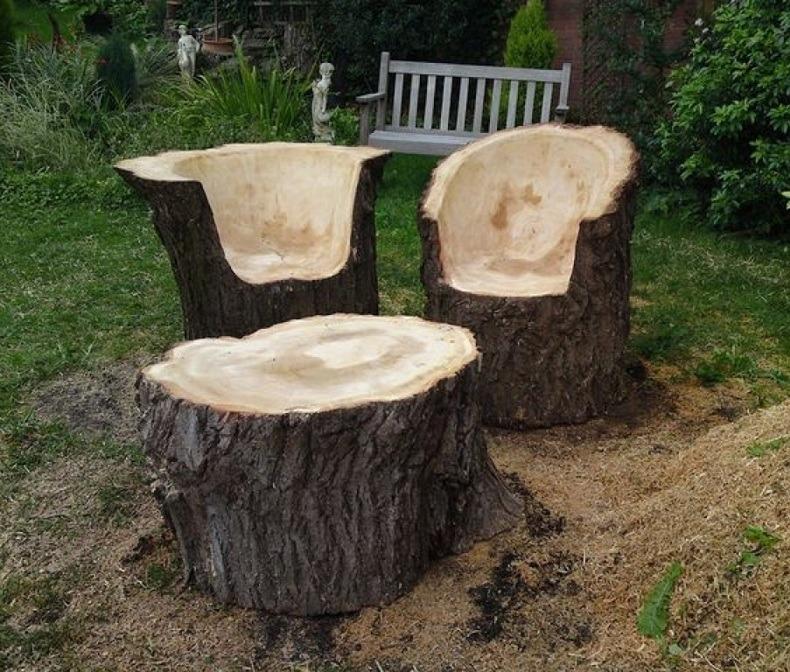 Cedar Log Outdoor Furniture
