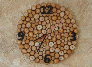 Wood Birch Clock