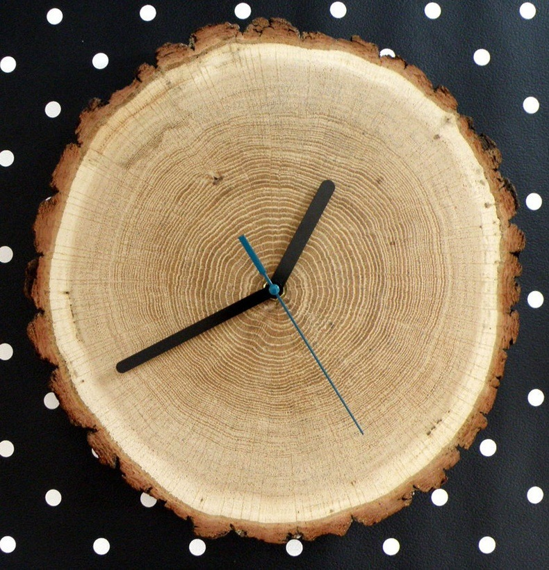 Birch Clock Handmade