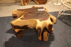 Wood Edge Slab Coffee Table