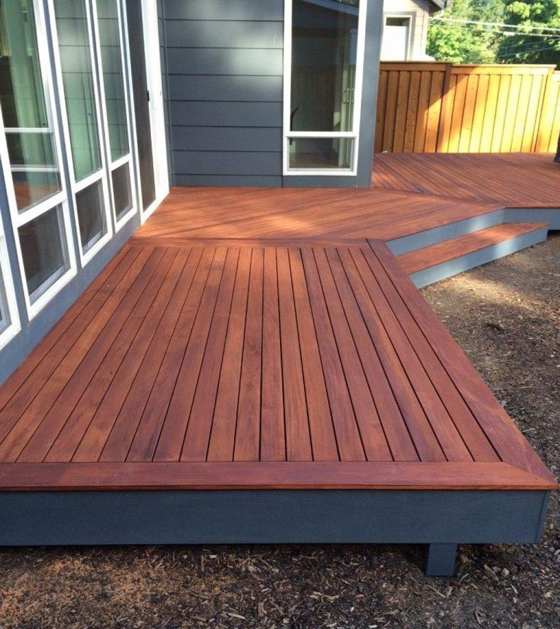 If the result of mahogany deck stain on inconspicuous area has totally satisfied you, it's time to move on and stain the rest of a piece.