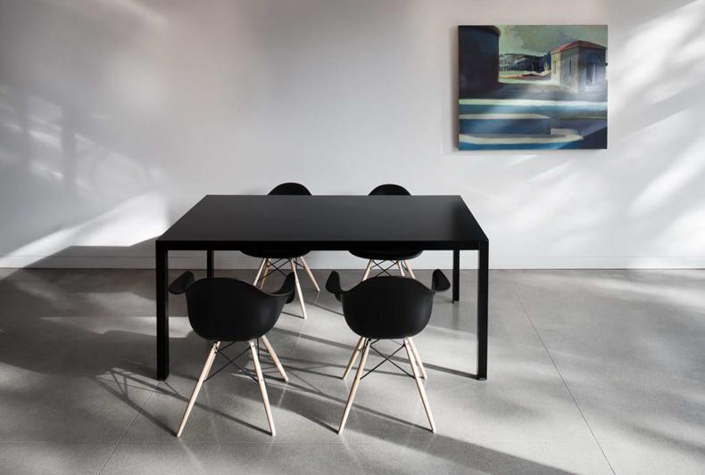 Modern Black Dining Table Set