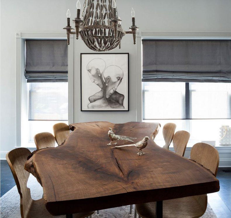 free form room  Free Form Modern Live Edge Dining Table ...
