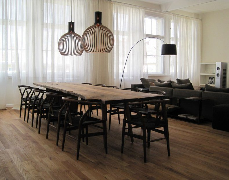 Live-Edge Dining Table in Dining Room