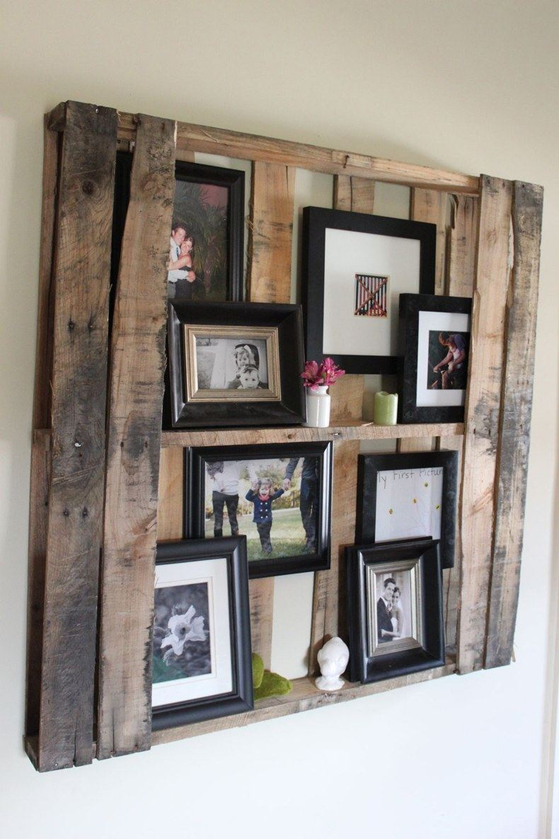 DIY Pallet Floating Shelves