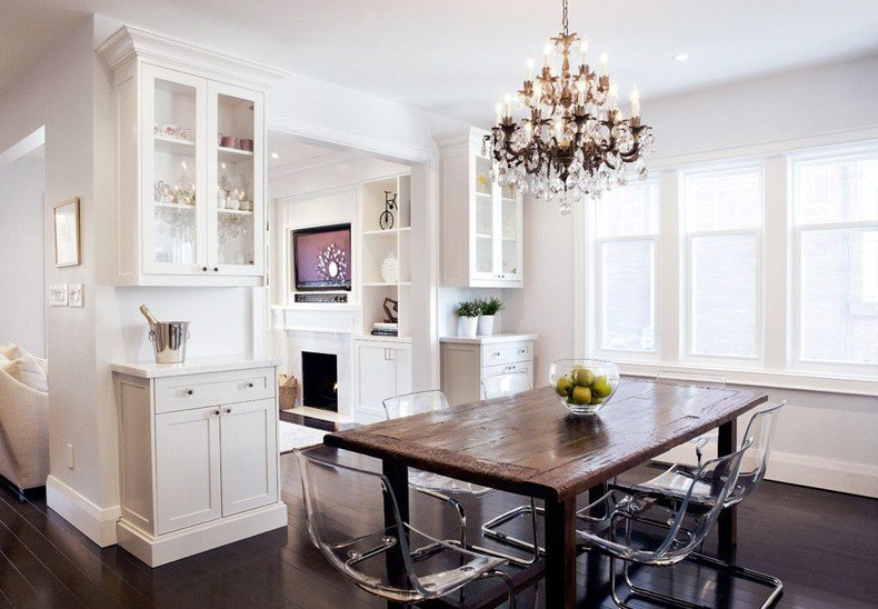 This idea with give the nice look to modern country dining room and create here comfortable and inviting atmosphere.