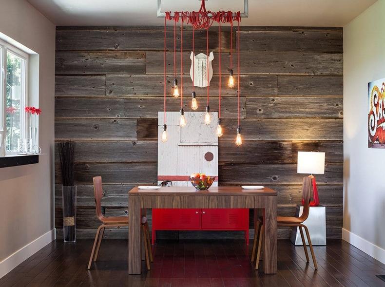 Wood Panel Dining Room