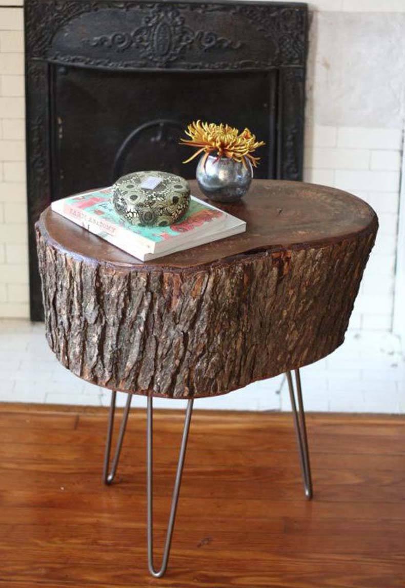 Tree Trunk Table Ideas