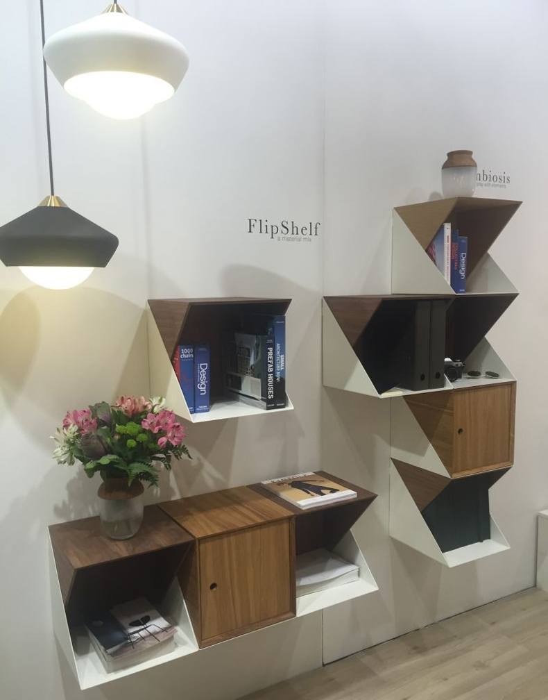FlipShelf Folding Metal Bookcase