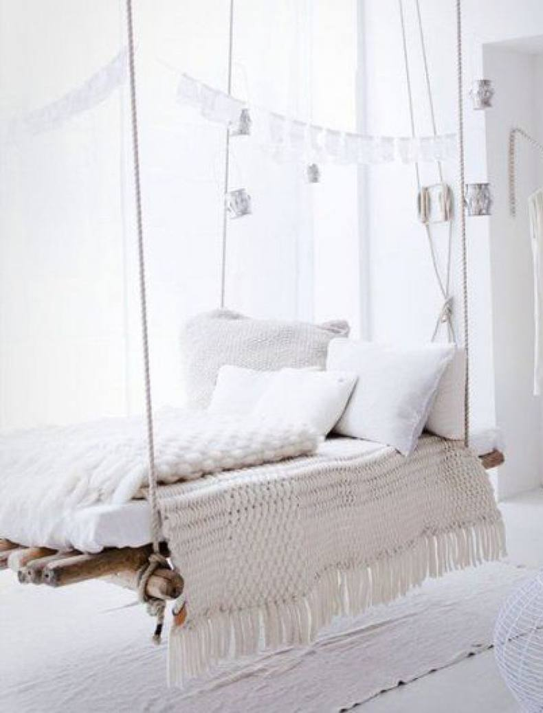 Hanging Wood Bed