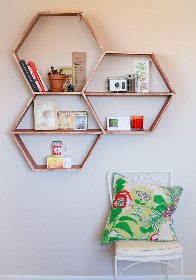 Hexagon Wall Storage Shelves