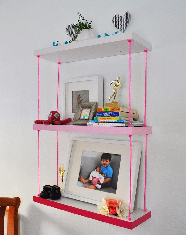 Modern Hanging Shelves