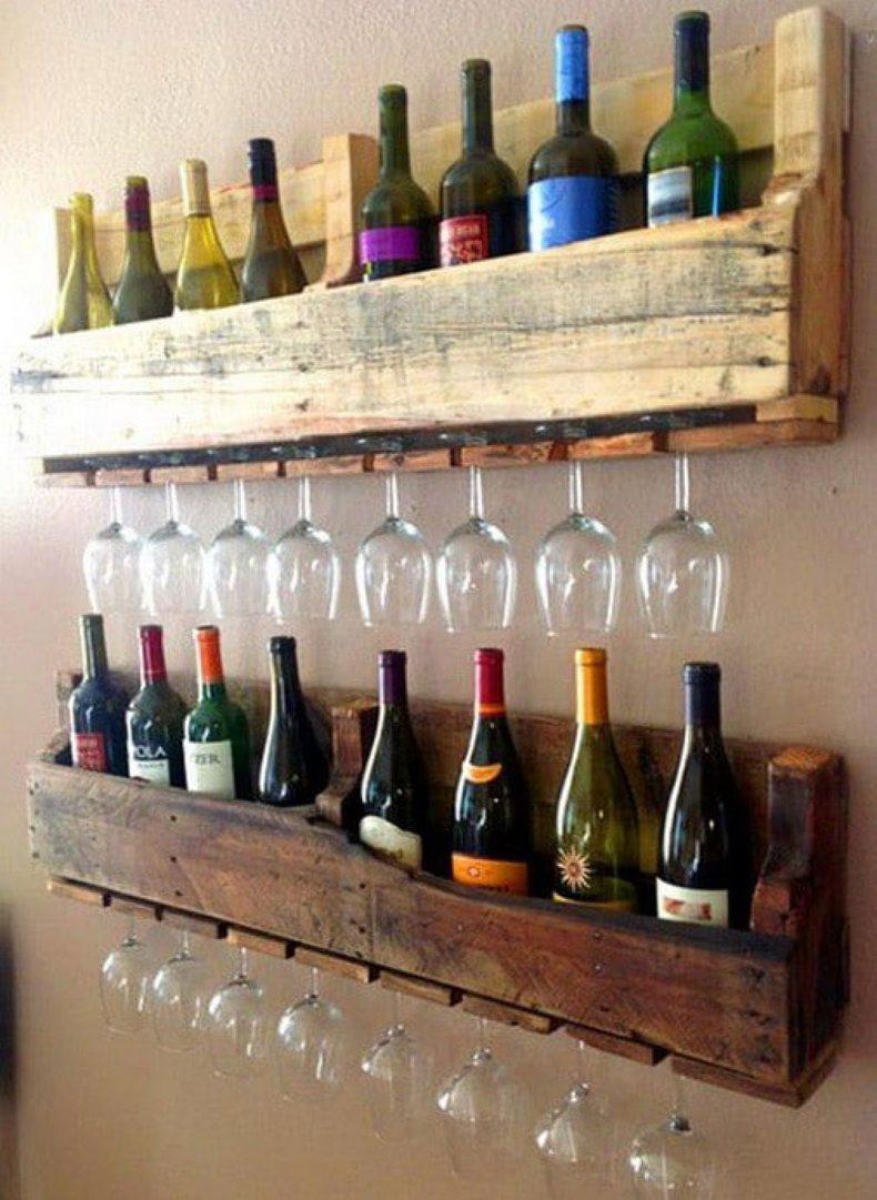 Pallet Board Wine Rack