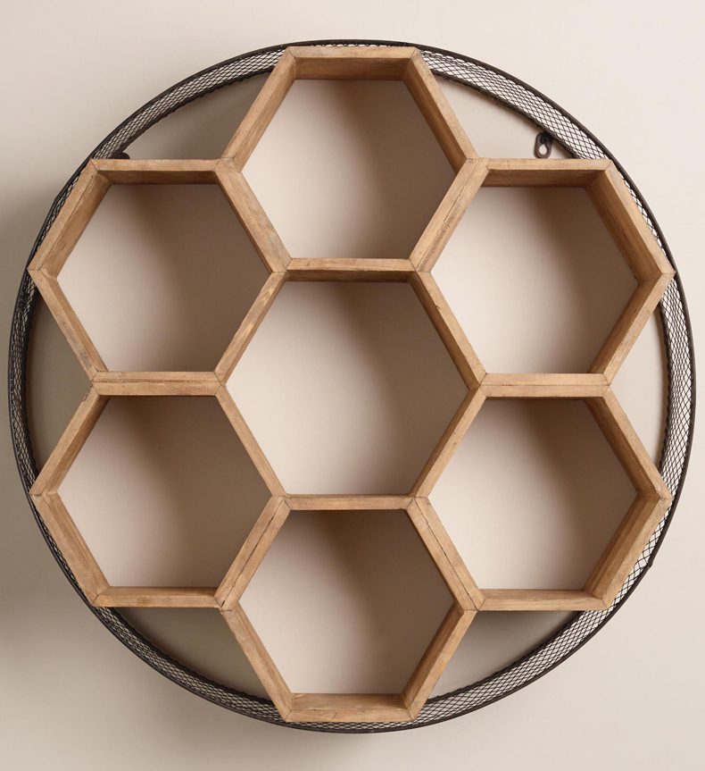Honeycomb wall shelves look chic and beautiful and they are very easy to be made either.