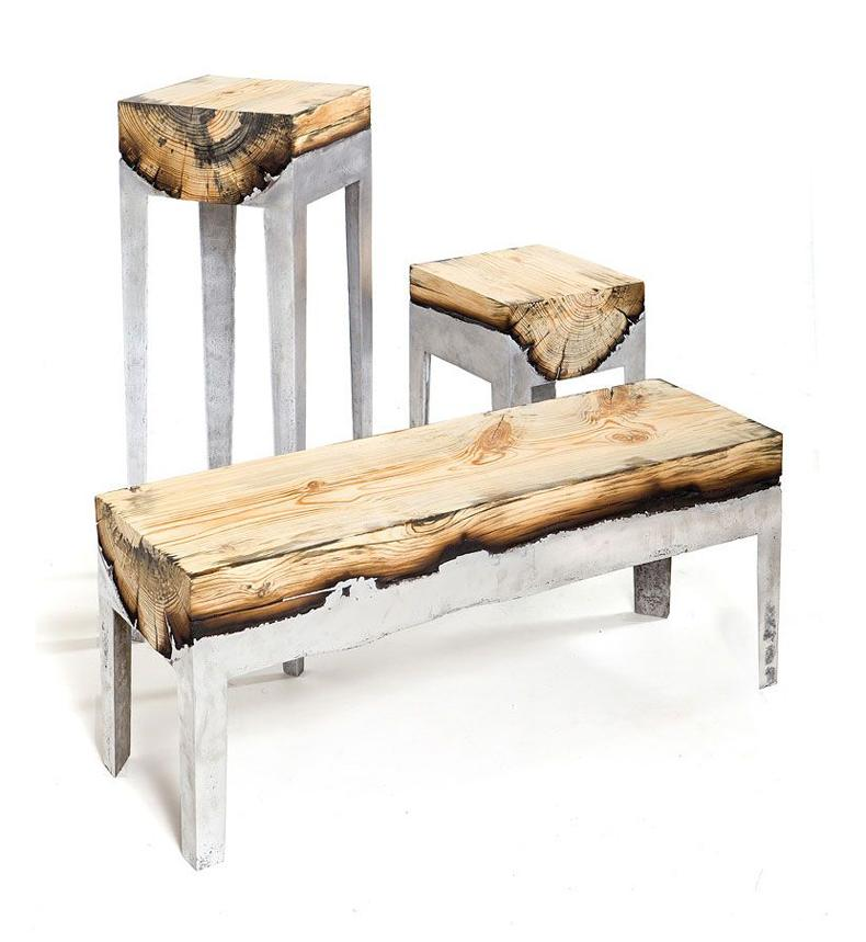 Wood And Aluminium Furniture