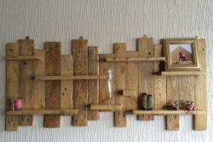 Wood Oak Living Room Shelf Board