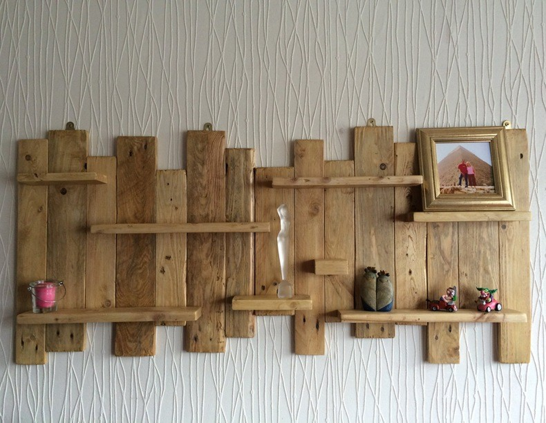 Wood Oak Living Room Shelf Board