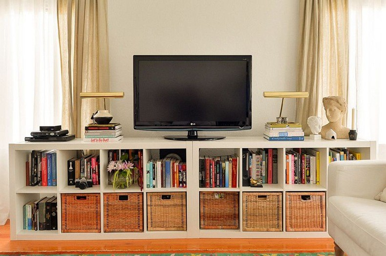 Lake table is a perfect bookcase TV stand and looks natural and is versatile.