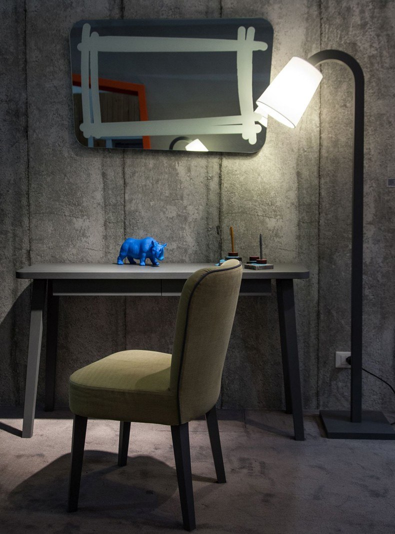 Floor Lamp And Mirror