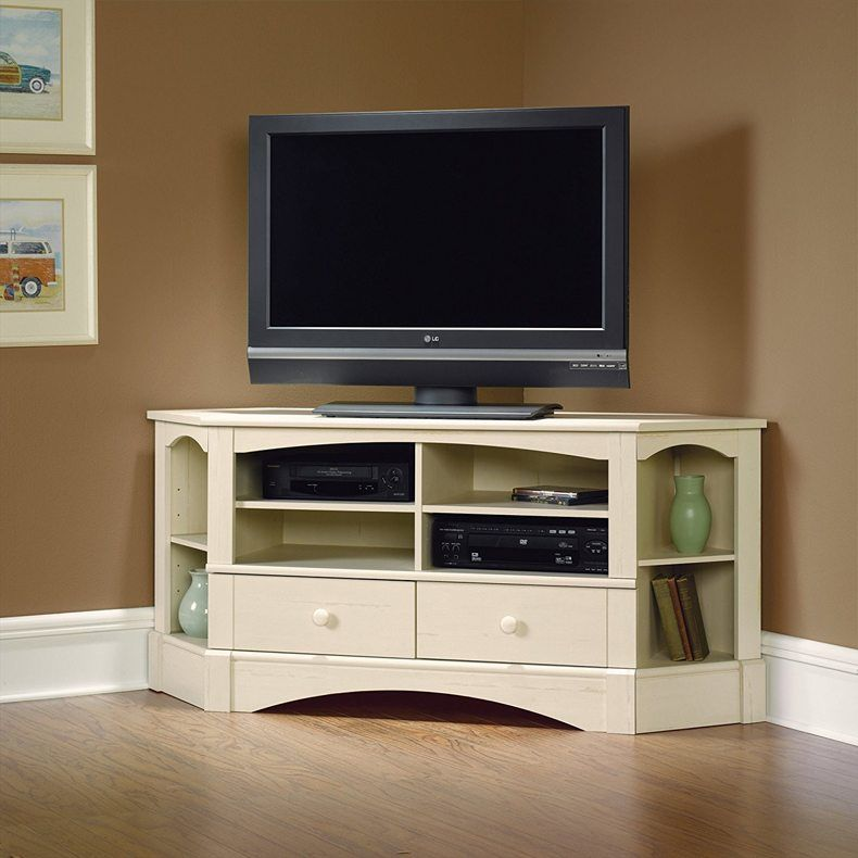 There is also another variant to make interesting model of high modern corner TV stand to decorate your home in the best way.