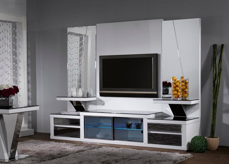 There are many TV feature wall design ideas that using a stand.