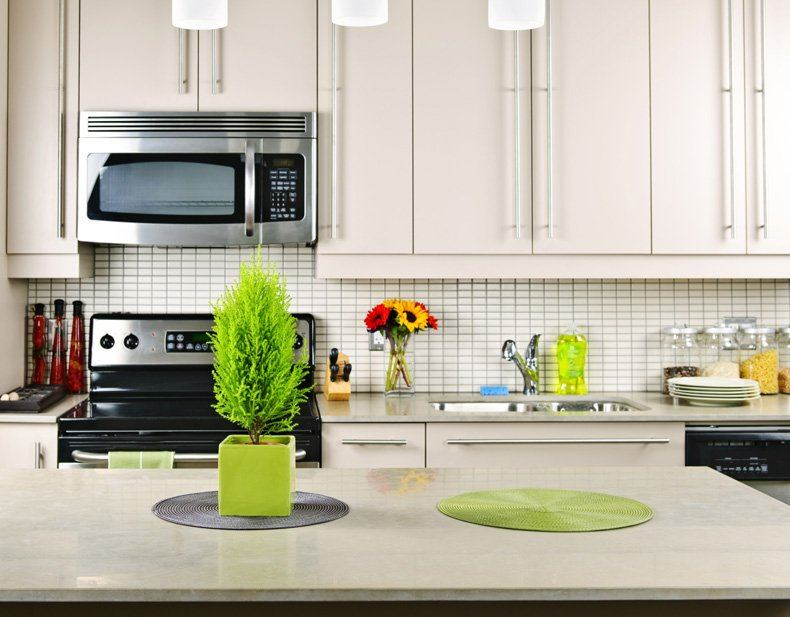 White Limestone Kitchen Countertops