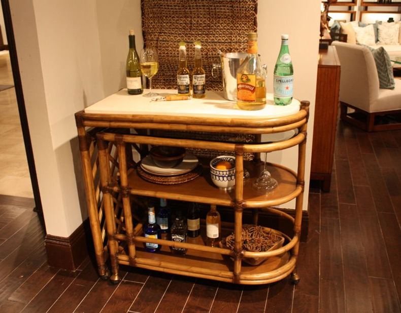 Bamboo bar design ideas worth to be considered as an outdoor furniture or elements of the decor.