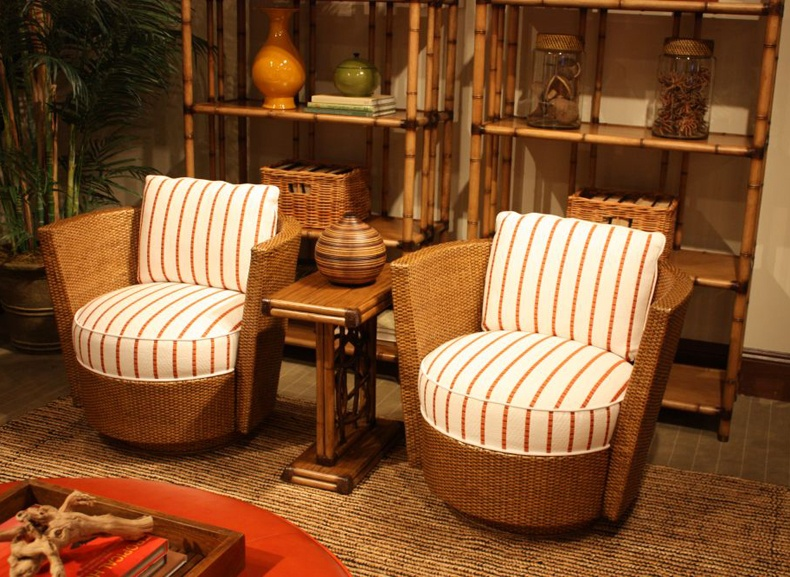 Bamboo Furniture Open Space Storage And Chairs