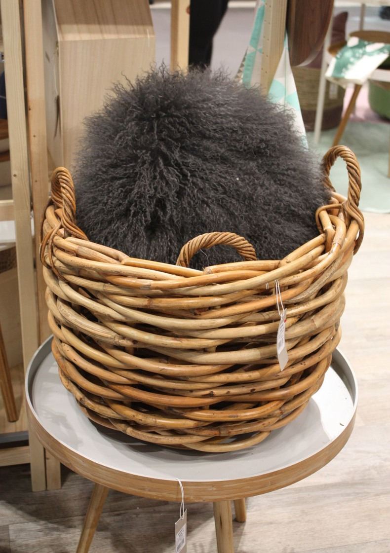 Double Wicker Laundry Basket