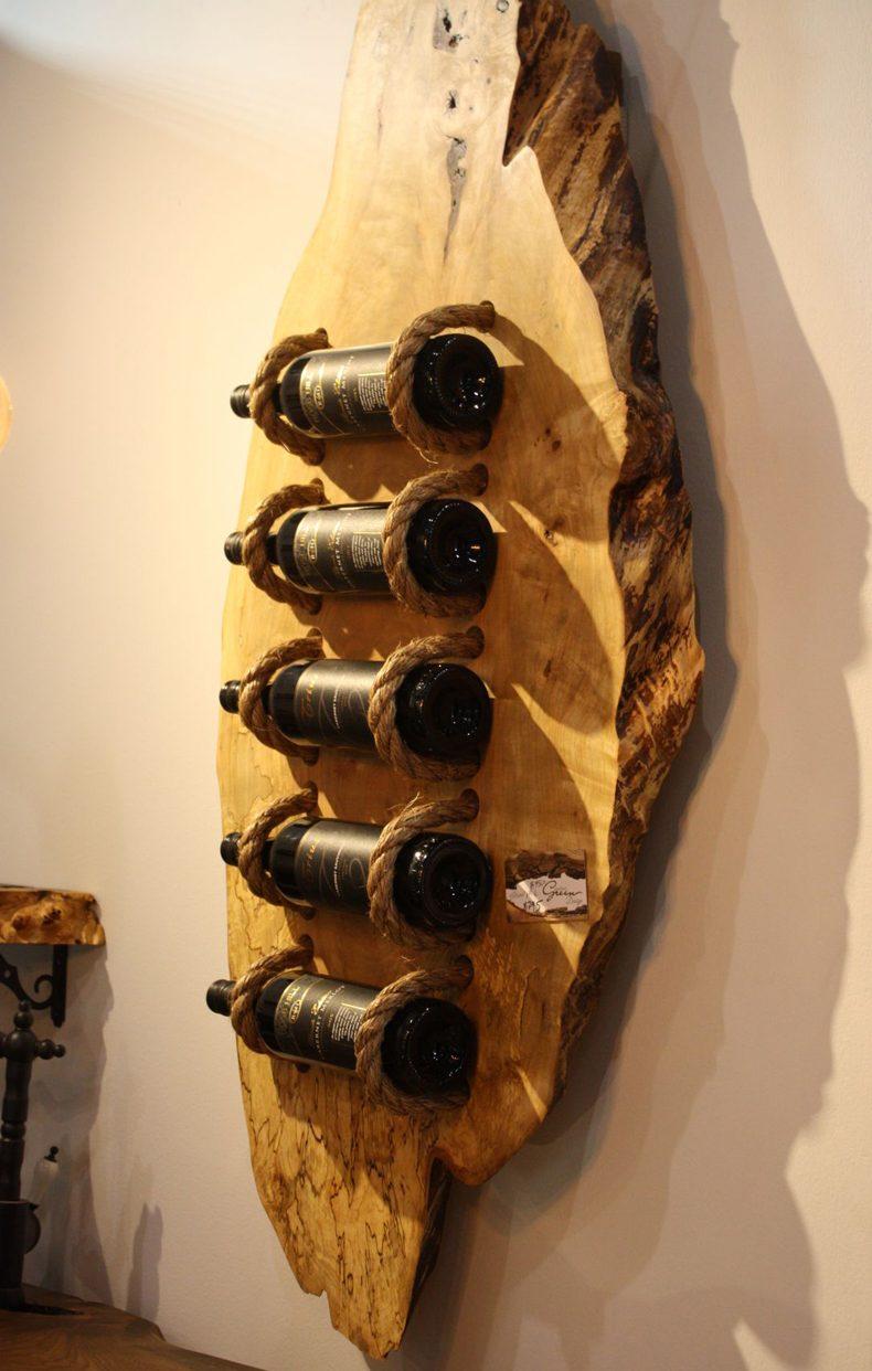 Wood Slab Wine Rack