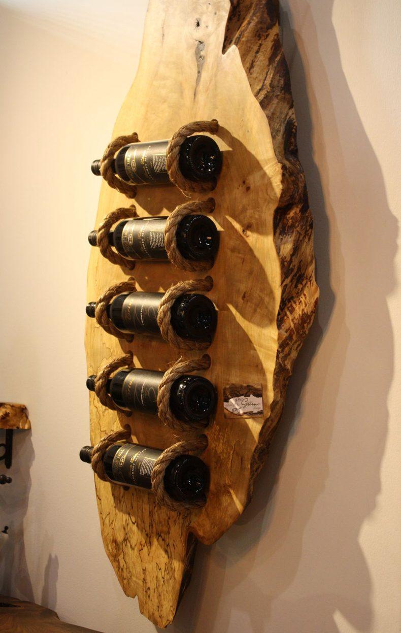 Wood Bottle Rack