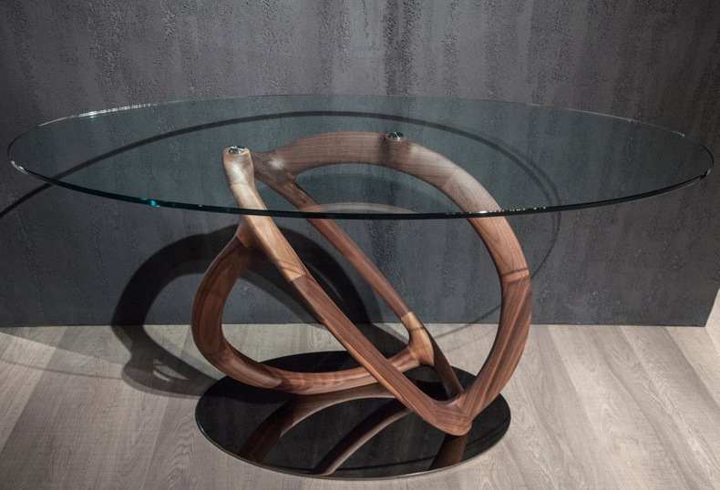 Oval Tempered Glass Table Top
