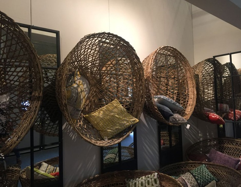 Decorate The Walls With Oversized Rattan Baskets