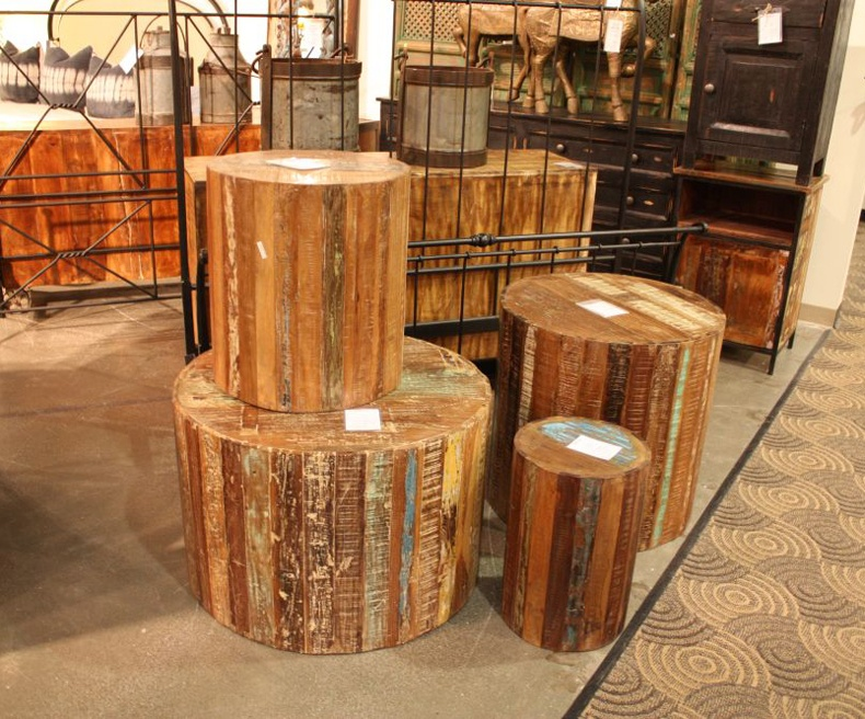Distressed Wood Counter Stools