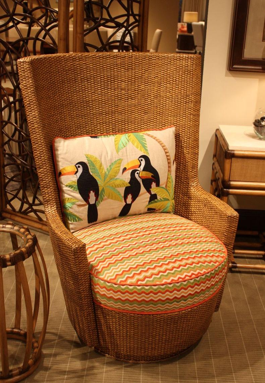 High Back Bamboo Chair
