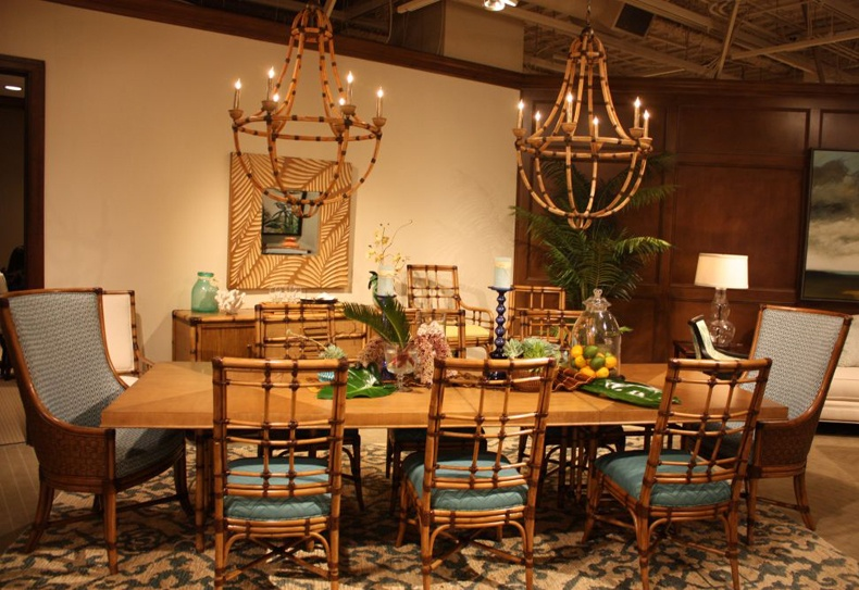 Bamboo Wood Dining Table