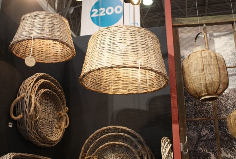 Wicker Basket Hanging Lights