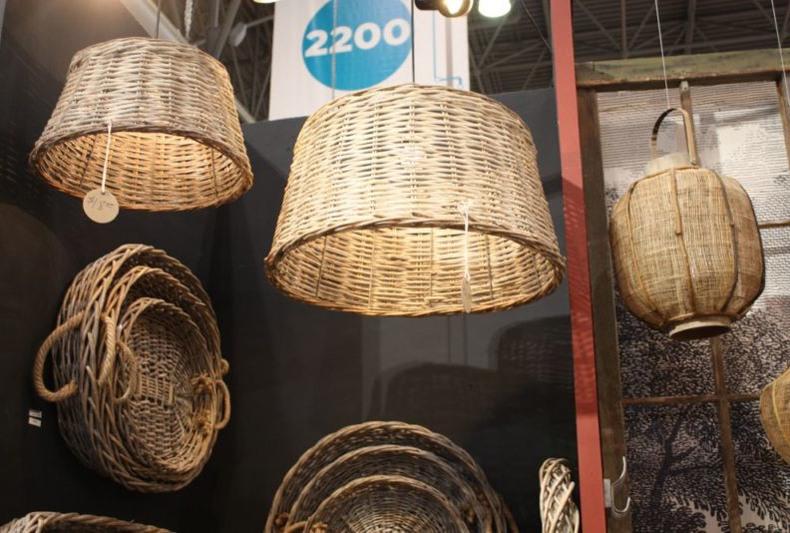 Wicker Basket Hanging Lights