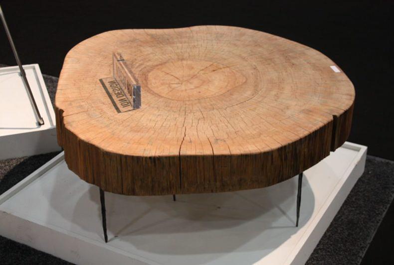 Sliced Log Coffee Table