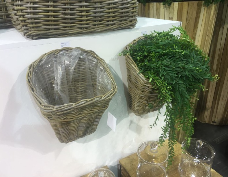 Hanging Rattan Wall Baskets