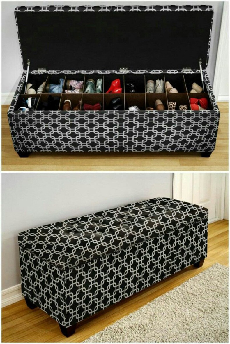 Shoe Rack and Storage Bench