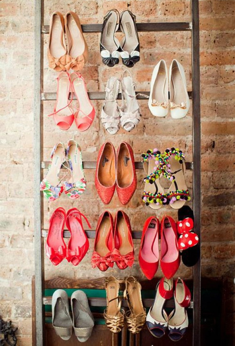 Ladder Shoe Rack For A Funky Design
