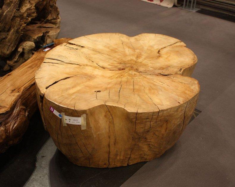 Large Wood Stump Coffee Table