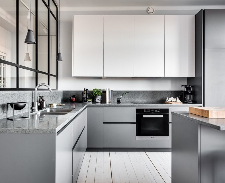 Grey Kitchen Wall Cabinets