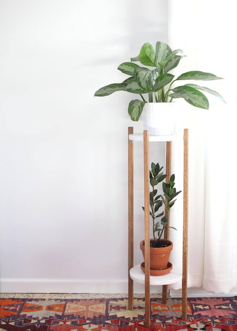 Mid Century Plant Pot Stand