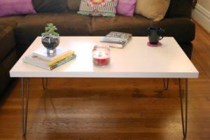 White Coffee Table Hairpin Legs