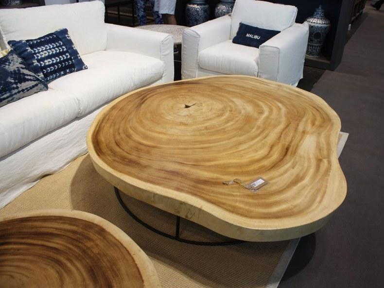 Log Slice Coffee Table