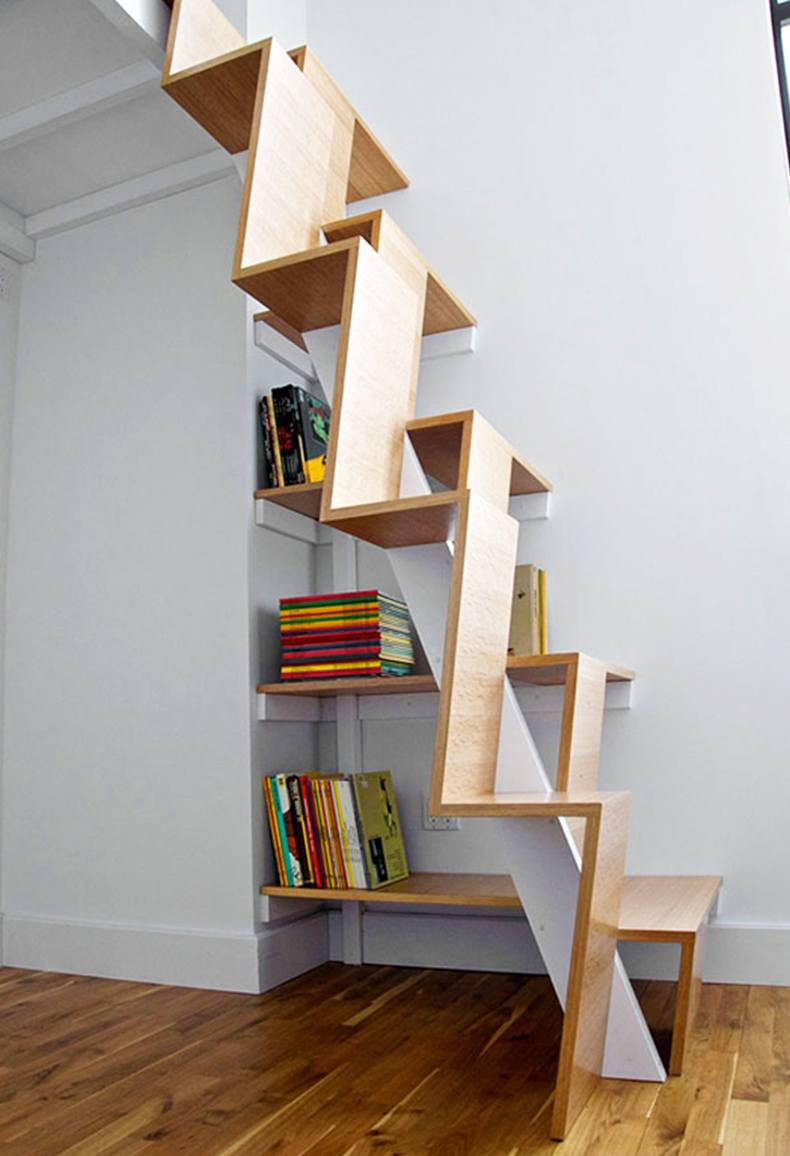 Covering alternating tread stairs with wood you are adding warmth and comfort to the room.
